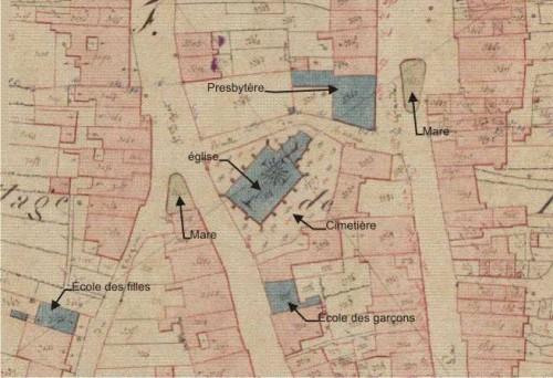 le centre du village en 1829.jpg